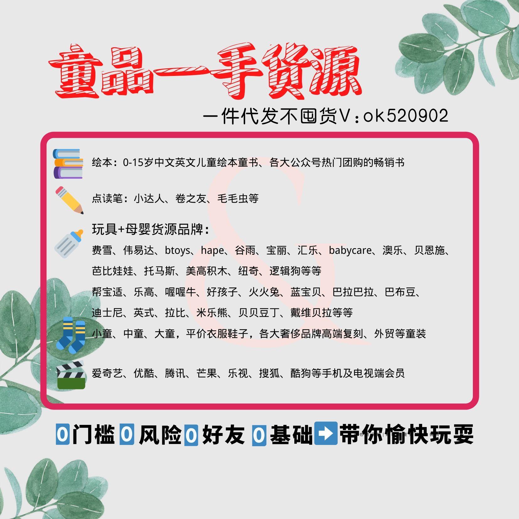 中英文繪本加盟、代理、一手貨源