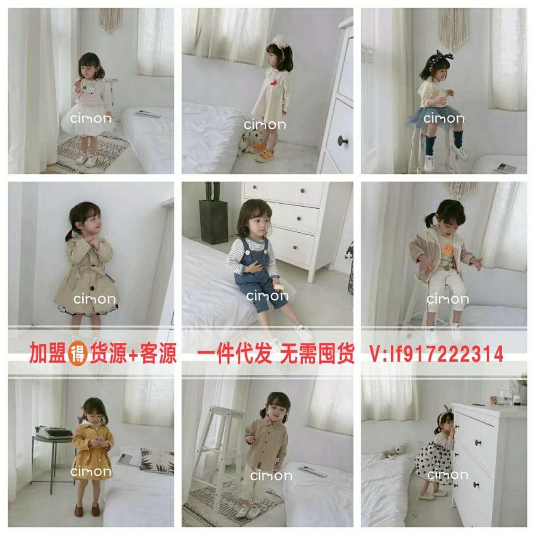 广州十三杭州四季青春装新款女装童装一件代发