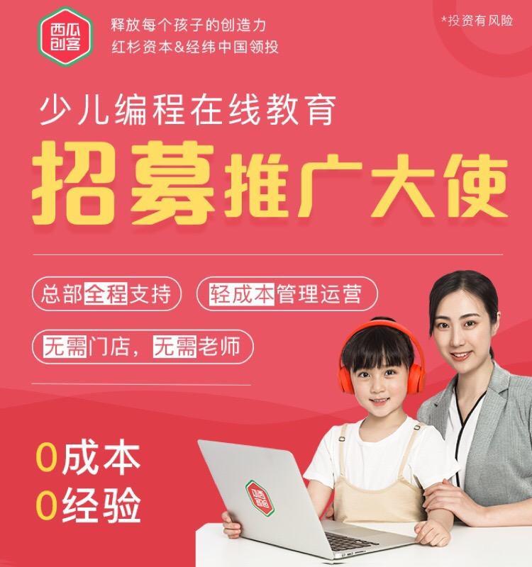 0投资代理当下热门少儿在线编程课程推广