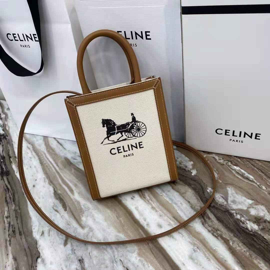 celine日常通勤 miniTOTE包赛琳经典老花竖型托特包